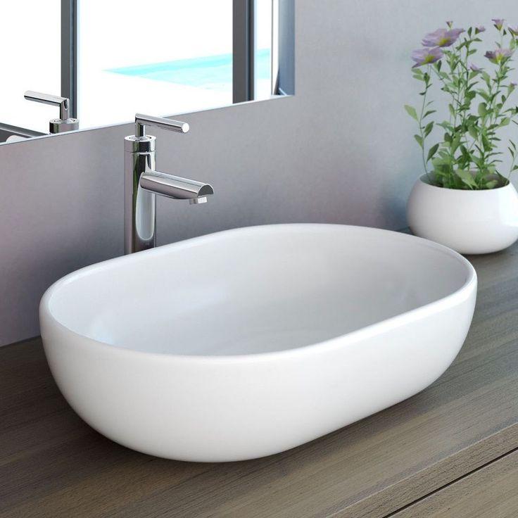 NEG Waschbecken Uno34A Aufsatz-Waschschale/Aufsatzbecken/Waschtisch Lotus-Effekt…