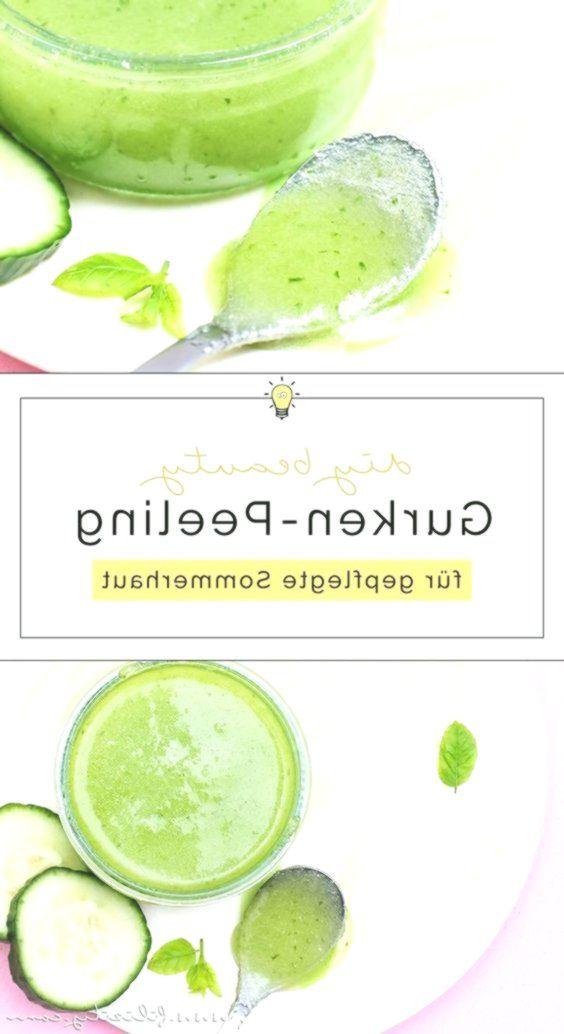 Feuchtigkeitsspendendes Gurken-Peeling selber mach…