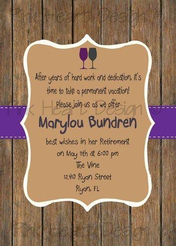 Casual Retirement Party Invite
