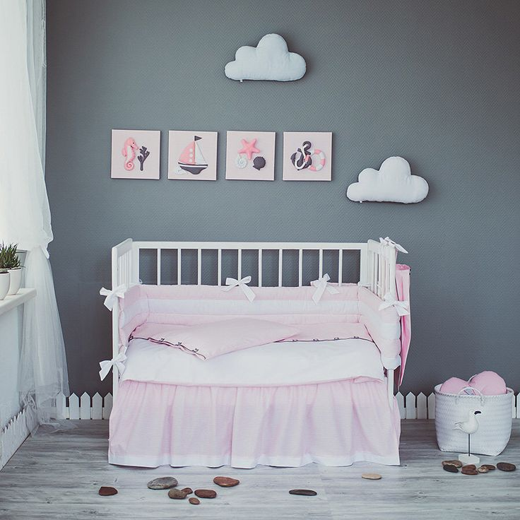 Pink White crib bedding set Sea Dreams - Nautical baby girl nursery bedding,  sheet, - Best 25+ White Crib Bedding Ideas On Pinterest Baby Girl Bedding