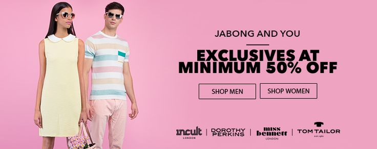 Flat 50% Off Exclusives On Jabong - http://www.grabbestoffers.com/coupon/flat-50-off-exclusives-on-jabong/