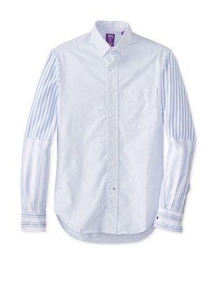 74% OFF Gitman Vintage Men's Striped Button Down Shirt (Blue)