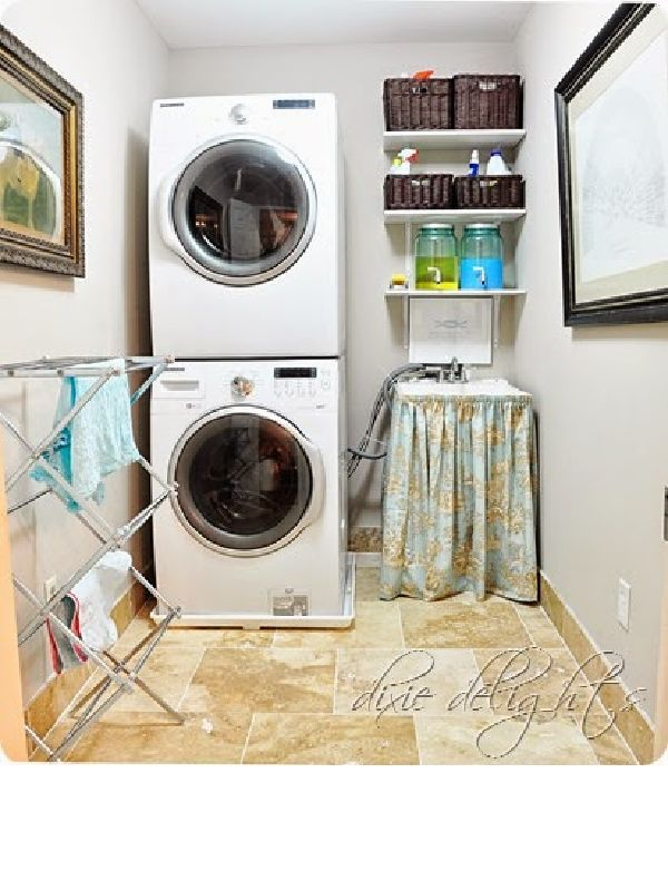 Fabulous Style In A Tiny Laundry Room