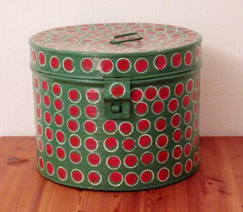 Metal Vintage Hat Box