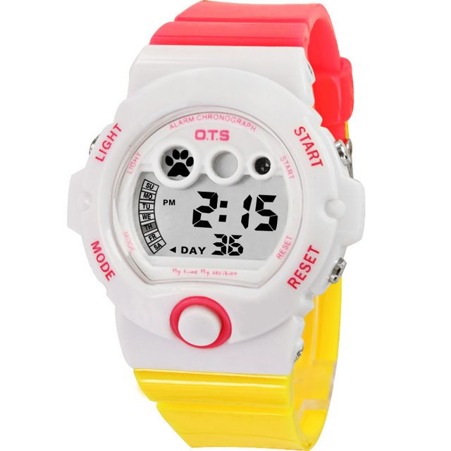Women Watch OTS brand luxury Fashion Casual Digital watches leather sport Lady relojes mujer waterproof wristwatches Girl Dress #Affiliate