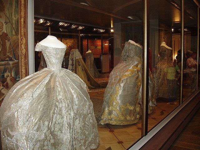 Court Dress Of Catherine The Great Russia On Display In Kremlin Moscow