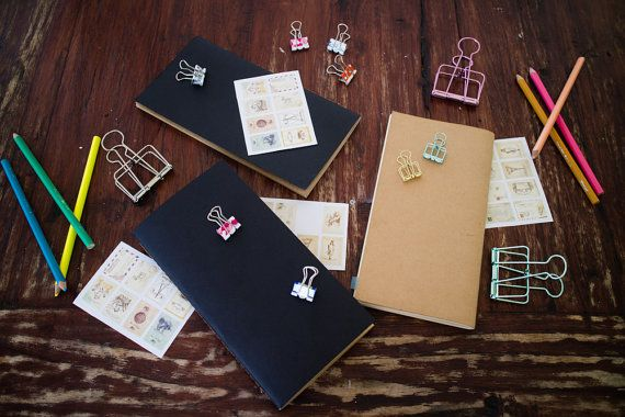 NOTEBOOK REFILL / INSERT FOR TRAVELLERS NOTEBOOK <   Dimensions: 21x11 cm / 8.25 x 4.3 inches (Its a regular midori size)   These notebooks are