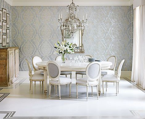 Tres Francais · Dining Room WallpaperTraditional ...