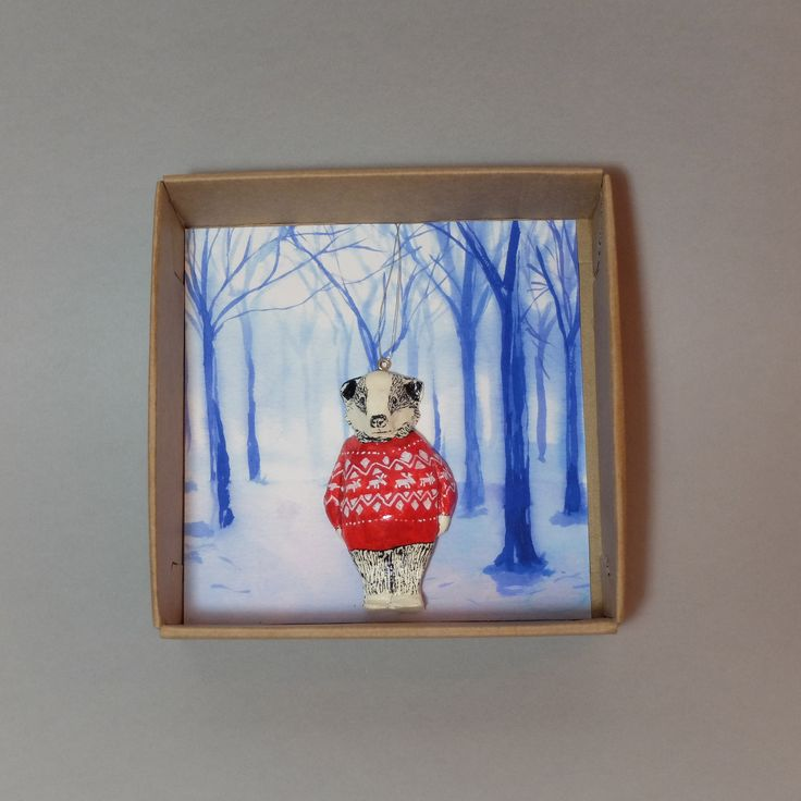 'Maurice' Badger Christmas Tree Decoration