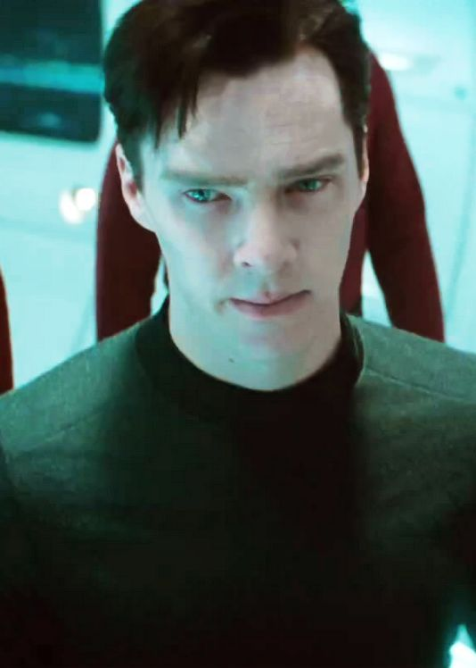 Benedict Cumberbatch as Khan.
