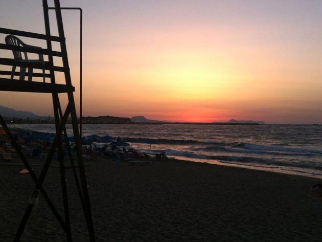 Rethymno's beach Crete, Greece