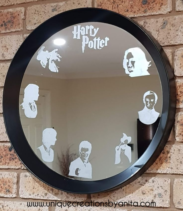Harry Potter Etched Mirror Etched Mirror Harry Potter Mirror Harry Potter Diy