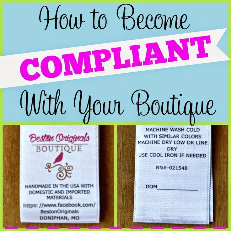 Create Kids Couture: Boutique Basics: Compliance