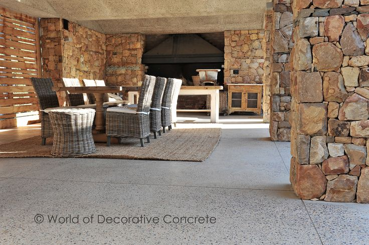 This summer entertain your friends in style!!! World of Decorative Concrete is known for its beautiful, luxurious and hardwearing Ground & Sealed Concrete floors for easy and comfortable living – indoors/outdoors  #wodc #stuccoitaliano #buildings #classical #stylist #style #interiordesign #concrete #modern #homestyling #designer #sandblasted #view #designed #architect #photographer #modernarchitecture #designs #creativeconcrete #polishedconcrete #decor #quote #design #architecture…