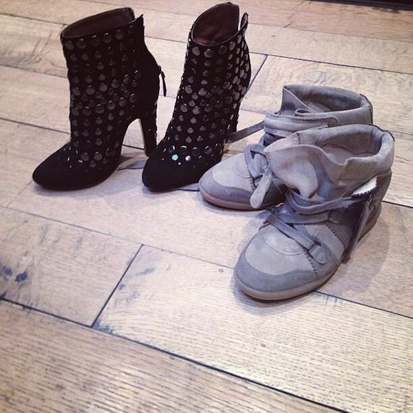 Hilary Duff's new pairs of shoes shared on Twitter on August 23, 2013