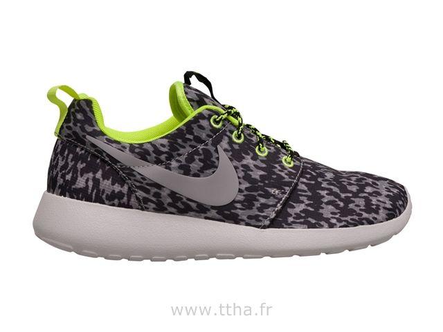Nike Femmes Roshe run Imprimer Noir / Blanc Nike Roshe Run Print Femme