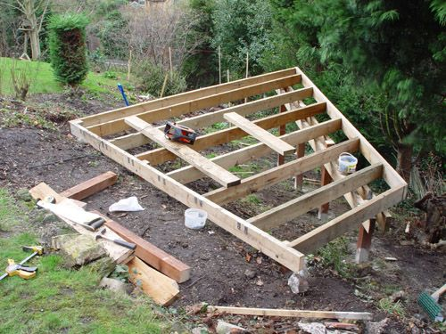 Deck On A Sloped Ground Google Search Deck On Lake 400 x 300