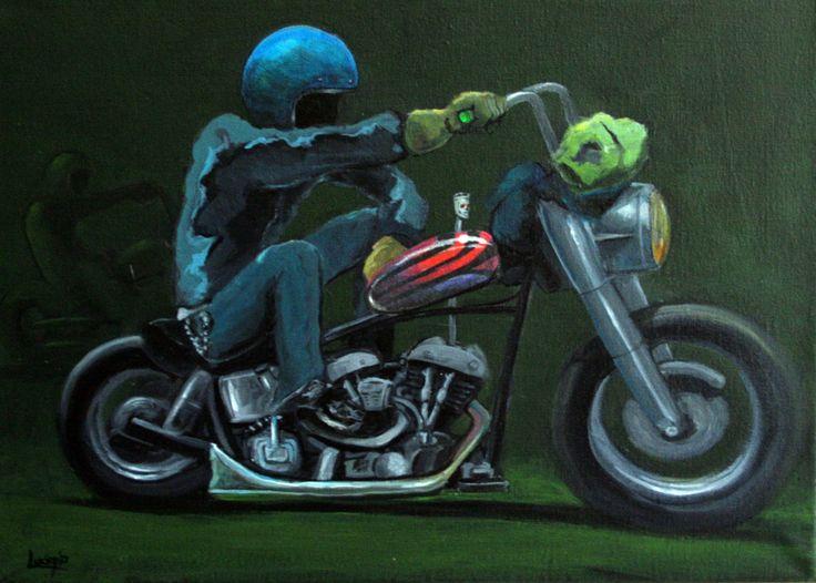 """""""The Gringo""""Acrylic on canvas 35cm X 25cm"""