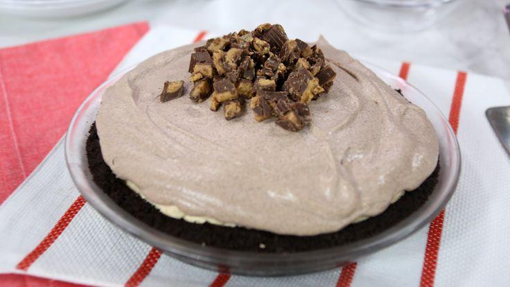 Chocolate peanut butter no-bake cheesecake