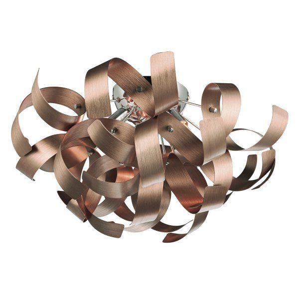 RAW0464 | Rawley Satin Copper Ceiling Light | Dar 4 Light Ceiling Light