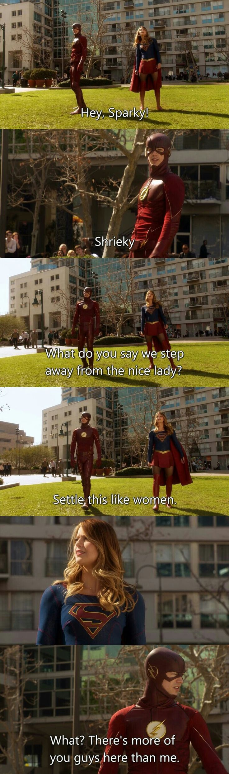 Supergirl 1x18 This crossover was epic, I love Flash
