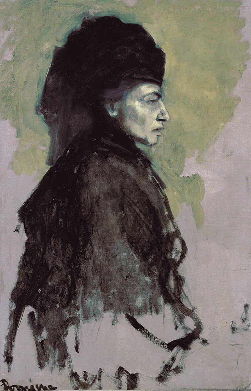 Romaine Brooks, Dame en Deuil, ca. 1910, oil on canvas, 91.8 x 61.3 cm, (Smithsonian American Art Museum of Washington, USA)