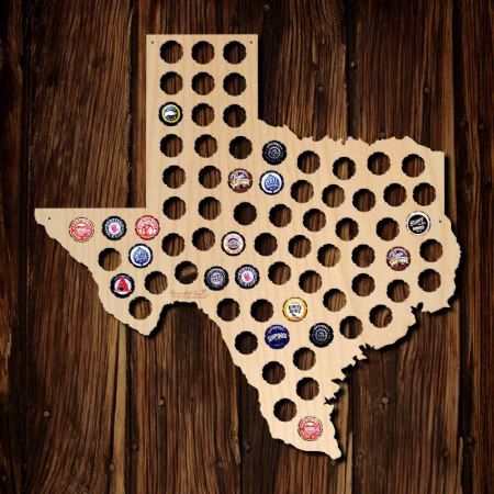 Texas Beer Cap Map - click/tap to personalize and buy