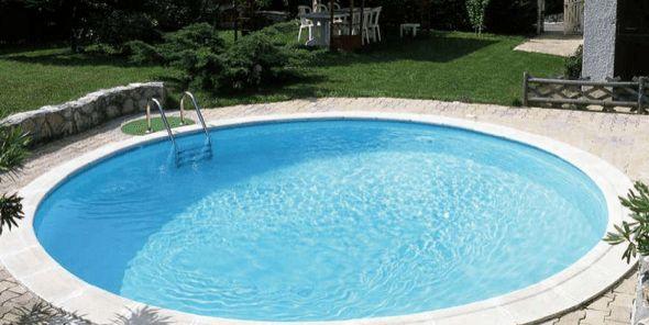 25 melhores ideias sobre piscinas redondas no pinterest casa luxo piscinas de luxo e sobrado - Piscina redonda fibra ...