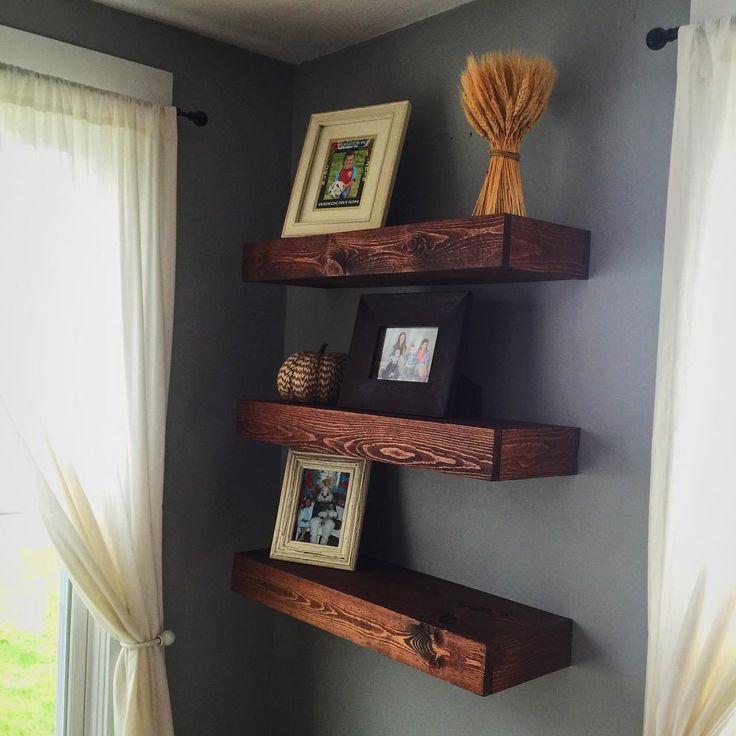 The floating shelves with my @kregjig & @ridgidpowertools it was easy peasy. #woodworking #farmhouse #custom #wood #reclaimed #barn #barnwood #ridgid #teamridgid #shiplap #rustic #diy #kregtools #kreg #shophacks #oil #woodoil #barndoor #farmhousestyle #decor #farmhousedecor #art #handpainted #handmade #etsy #ohio