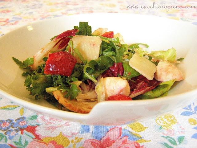 Salada com morangos e radicchio | Cucchiaio pienoCucchiaio Pieno, De Morango