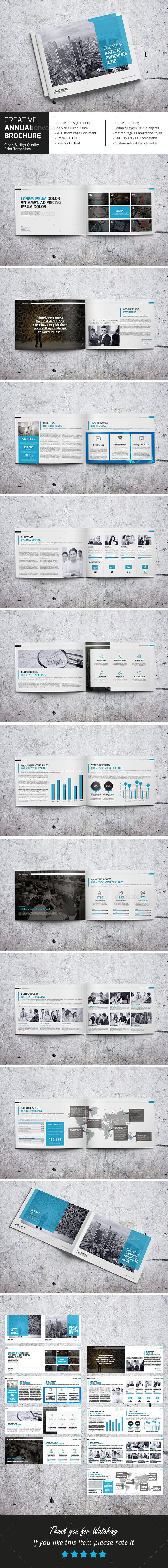 Creative Annual Brochure Template InDesign INDD - 20 Pages