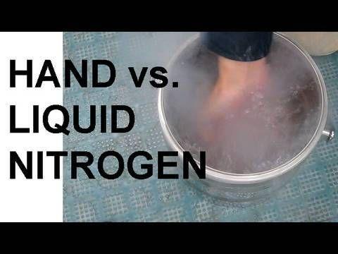 ▶ Hand vs. Liquid Nitrogen and the Leidenfrost Effect - YouTube