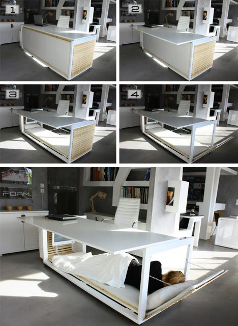 Bed + Desk for wicked all-nighters