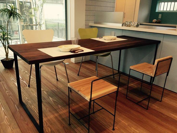 平角鉄の家具│アイアン インダストリアルデザイン