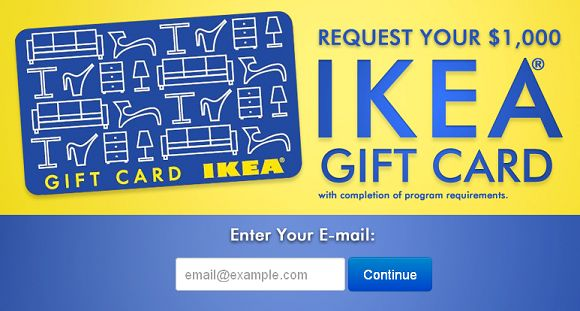 free 1000 ikea gift card free gift cards pinterest. Black Bedroom Furniture Sets. Home Design Ideas