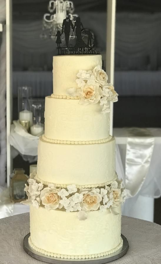 Saras Wedding Cake by The Butterfly Baker - http://cakesdecor.com ...