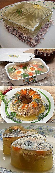 ХОЛОДЕЦ - 16 СЕКРЕТОВ !!!  **Холодец или студень - традиционное русское блюдо, это застывший бульон с кусочками мяса. В отличие от заливного, для холодца - не требуется никаких желеобразующих веществ! *Та Хозяйка молодец - что готовит холодец !))