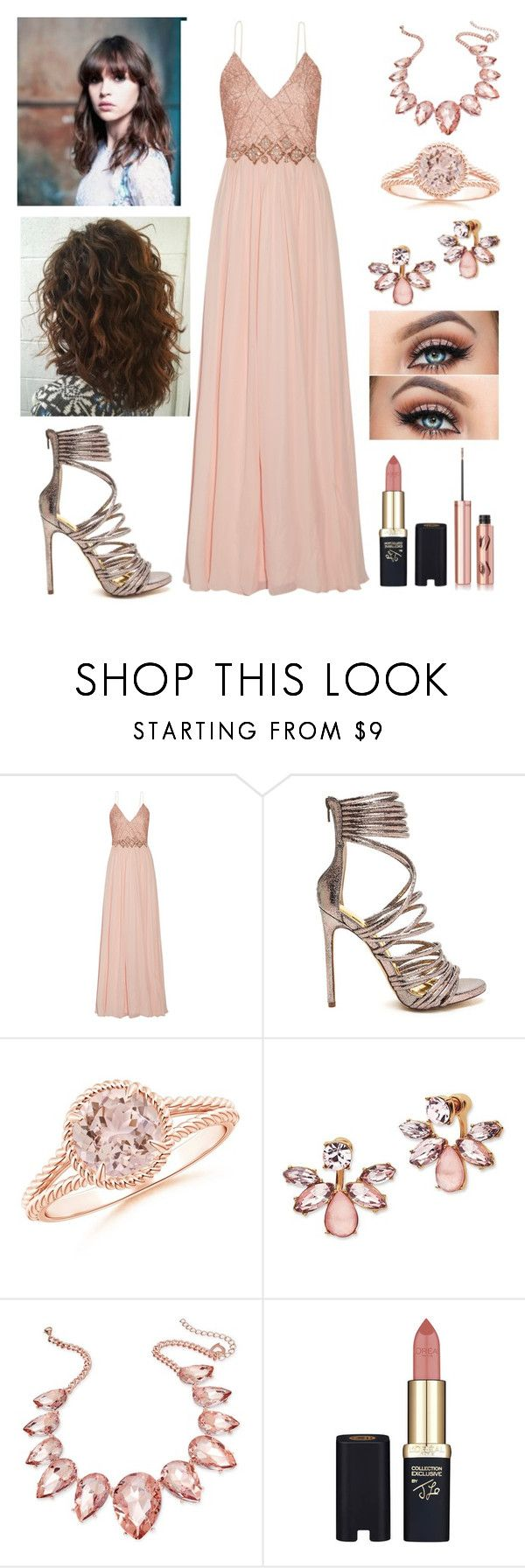 """Adara Alcott ~ Yule Ball"" by accio-hogwarts-81 ❤ liked on Polyvore featuring Badgley Mischka, Marchesa, Thalia Sodi, L'Oréal Paris and Charlotte Tilbury"