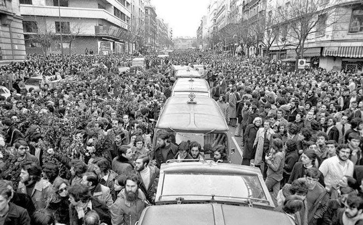 Entierro de los abogados asesinados en Atocha. 1976