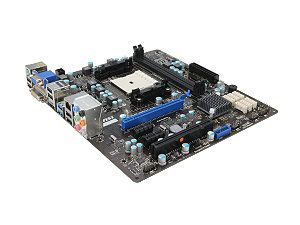 MSI FM2-A75MA-E35 FM2 AMD A75 (Hudson D3) SATA 6Gb/s USB 3.0 HDMI Micro ATX AMD Motherboard $60 at Newegg.com