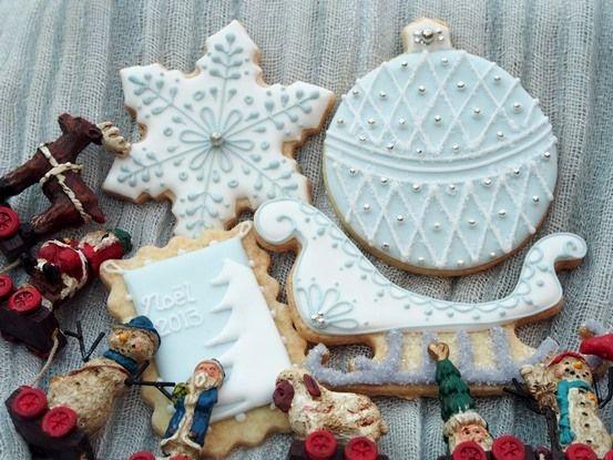 12月5日 クリスマス☆アイシングクッキー : 青い空の見える場所 ~Le ciel bleu~