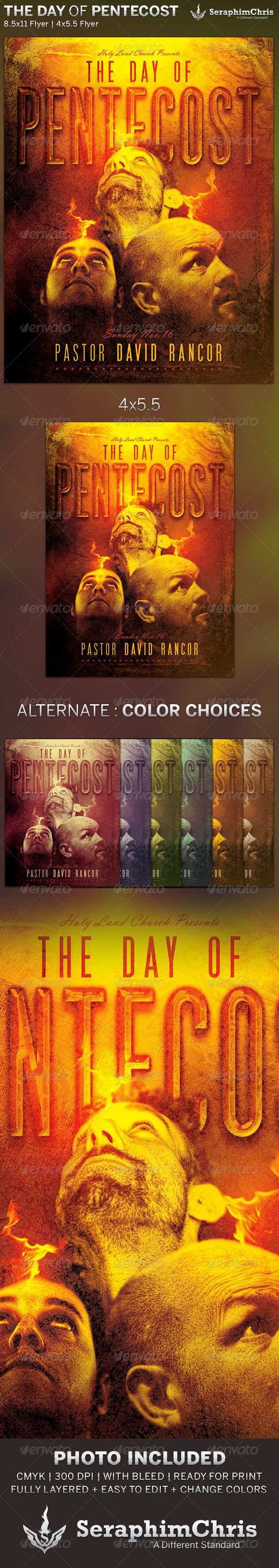 The Day of Pentecost: Church Flyer Template is designed for sermon series or church events revolving around the Book of Acts. This premium flyer design is constructed to give the highest dynamic quality when printed or posted to social media site and other formats. This file is exclusive to graphicriver.net