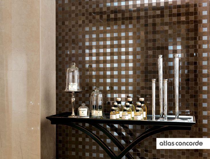 #MARVEL bronze | #Mosaic | #Floor design | #AtlasConcorde | #Tiles | #Ceramic | #PorcelainTiles