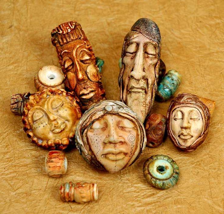 Bead Doll Faces, by Maureen Carlson