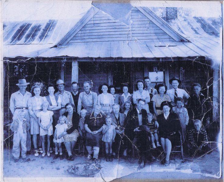 Edmond Sally Blackmon Family Near Albertville Alabama 1940 S