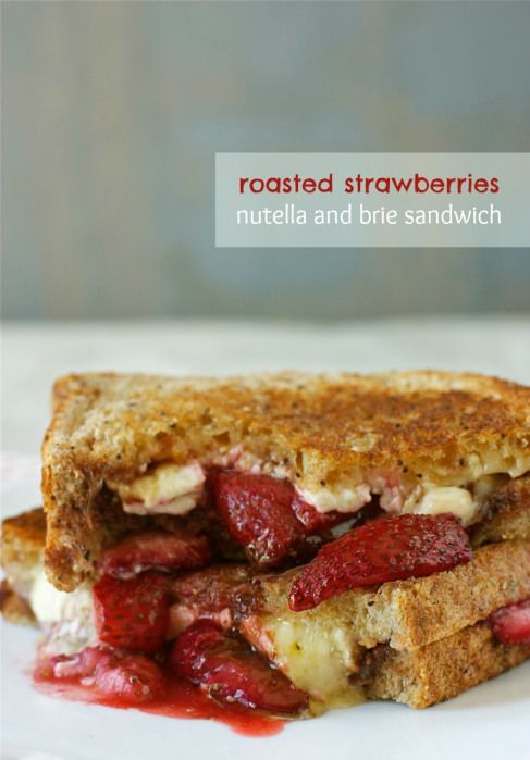 Roasted Strawberries, Nutella, and Brie Sandwich | daisysworld.net