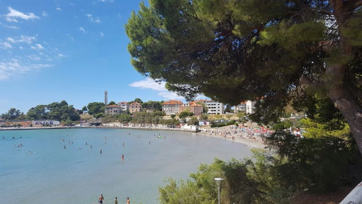 Bacvice beach in Split, Croatia, one of the most animated places in Split on daytime and night time as well
