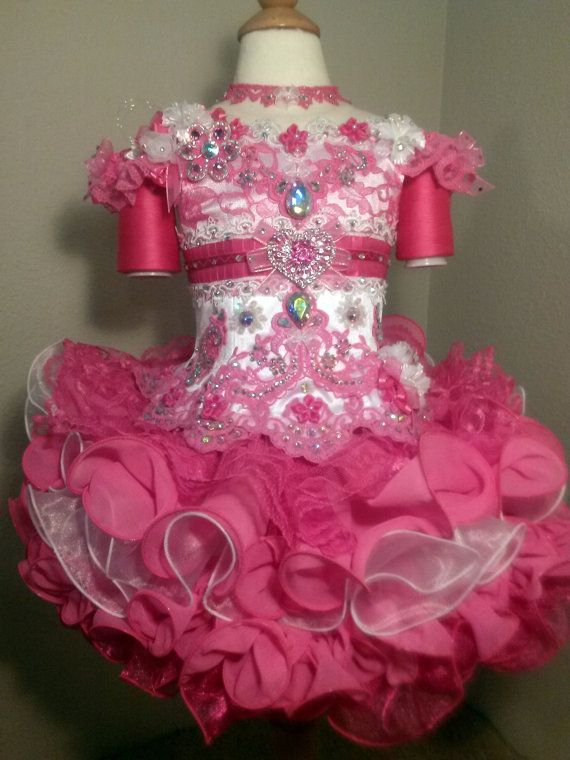 Mega Glitz Pageant Cupcake 3 4 Ready To Ship Dress Formal