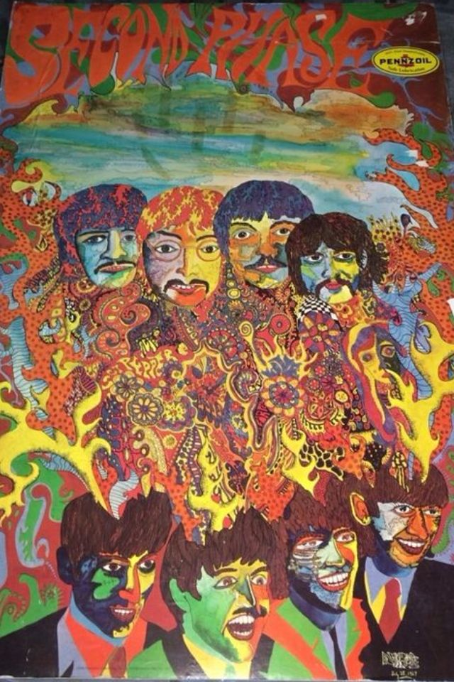 psychedelic phase of beatles Pre the beatles, john lennon, was a part teddy boy and art school student, with   had worn matching stage outfits with each beatle wearing the same suit   album was the definition of the psychedelic movement of the time.