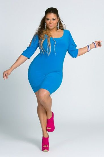 "color blocking cobalt blue body con dress #curvy #thick  ""if you follow my Curvy Girl's Spring/Summer Closet, make sure to follow my Curvy Girl's Fall/Winter Closet.""   http://pinterest.com/blessedmommyd/curvy-girls-fallwinter-closet/"